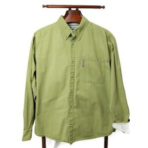Columbia Long Sleeve Shirt Button Front Flip Cuff